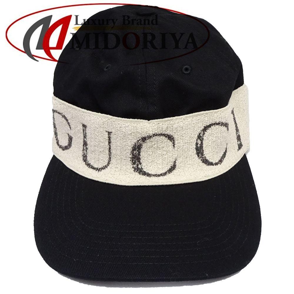 9012350b56b Gucci GUCCI cap baseball hat XL black gabardine cotton black 492545  044224