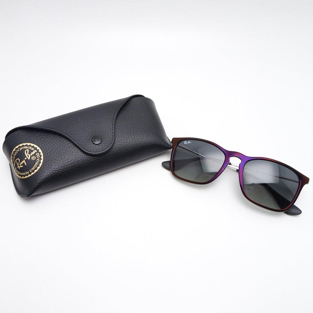 8d4f3c405152 ... Authentic RAY-BAN CHRIS Sunglasses RB4187-F 54□18 145 3N Black Purple  ...