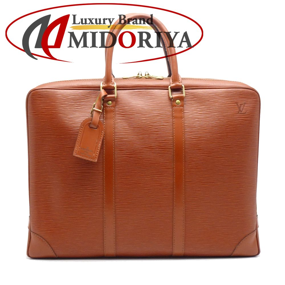 a5adc942f Authentic LOUIS VUITTON Epi Porte Document Voyage Business Bag M54473 Kenya  Brown /053584 FREE SHIPPING ...