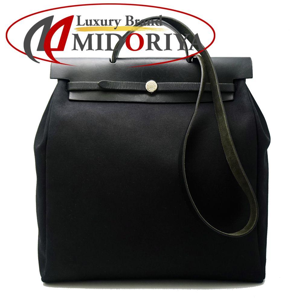 エルメス HERMES エールバッグ GM トワルオフィシェ 黒 ブラック/053667【中古】