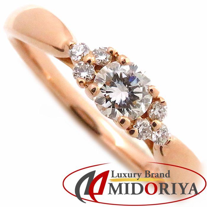 \大幅値下げ/ティファニー Tiffany & Co. ハーモニーリング ダイヤモンド7P サイドストーン K18PG 6.5号 750ピンクゴールド ローズゴールド 指輪/091035【中古】