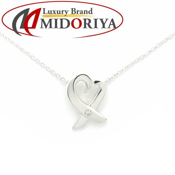 ティファニー Tiffany & Co. ラビングハート ネックレス ダイヤモンド1P SV925 シルバー ペンダント/099842【中古】