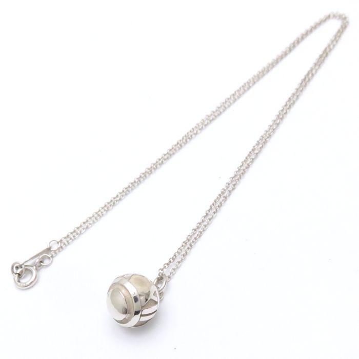 fde29ee6d Tiffany Tiffany & Co. Atlas ball necklace SV925 silver pendant /099857