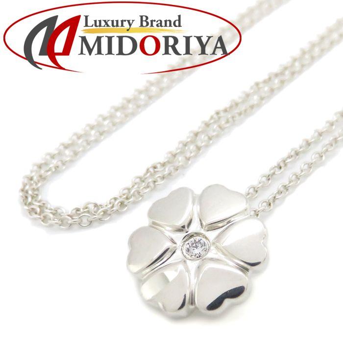 ティファニー Tiffany & Co. クラウンオブハート ネックレス ダイヤモンド1P SV925 シルバー パロマピカソ ペンダント/099910【中古】