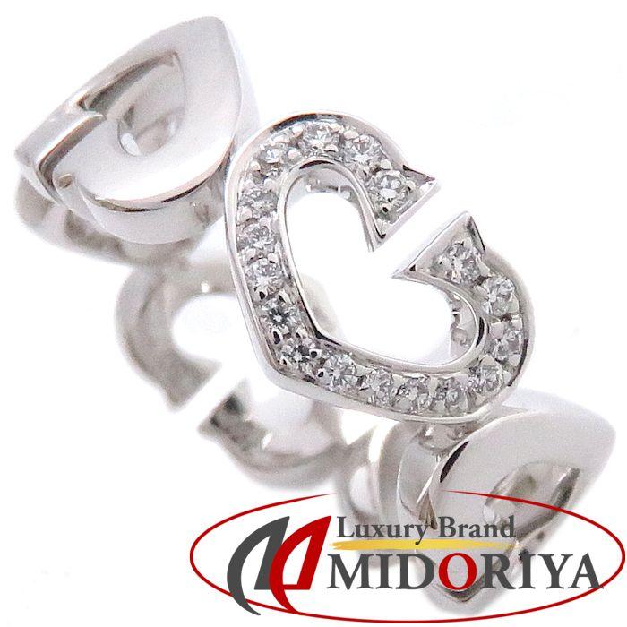 カルティエ CARTIER Cハートリング 1モチーフダイヤモンド 750WG #50 9.5号 B4041550 ホワイトゴールド 指輪 /099928 【中古】