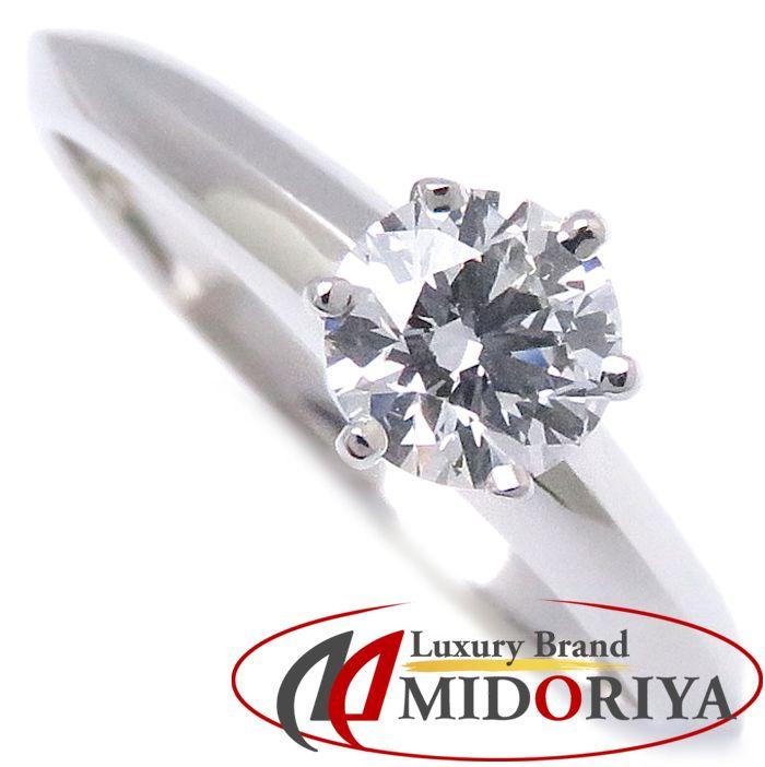 ティファニー Tiffany & Co. ソリテール リング ダイヤモンド0.40ct Pt950 12号 ソリティア プラチナ 一粒ダイヤ 指輪/099938【中古】