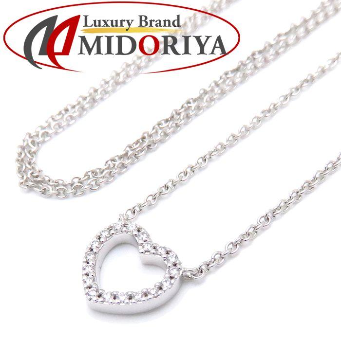 ティファニー Tiffany & Co. メトロハート ネックレス ダイヤモンド 750WG ホワイトゴールド ペンダント /099956 【中古】