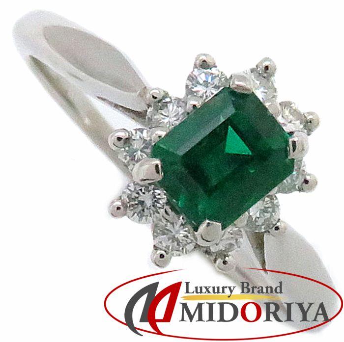 ティファニー Tiffany&Co. エメラルド 0.49ct ダイヤモンド リング 10.5号 Pt プラチナ 指輪 /099959 【中古】