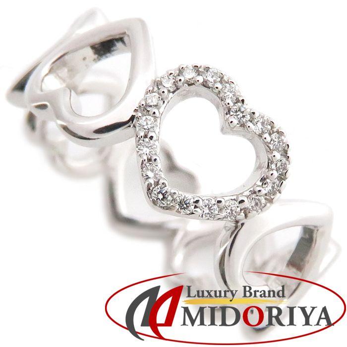 ティファニー Tiffany & Co. メトロハート リング ダイヤモンド 750WG ホワイトゴールド 12号 指輪 /099960 【中古】