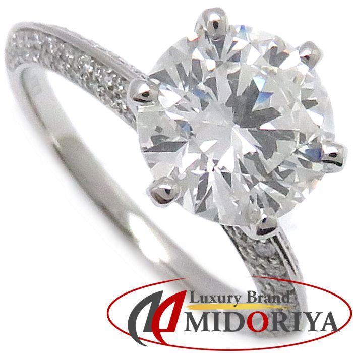 ティファニー Tiffany & Co. パヴェ ティファニーセッティング エンゲージメント リング パヴェ ダイヤモンド 2.07ct プラチナ Pt950 11.5号 指輪 /099998 【中古】