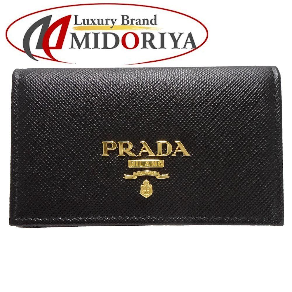 プラダ PRADA カードケース サフィアーノ レザー ブラック 1MC122 /044410 名刺入れ 【中古】