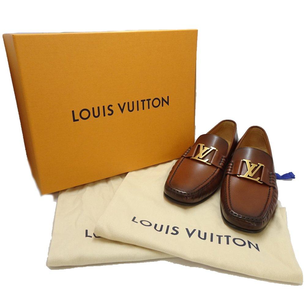 32223769c981 Louis Vuitton LOUIS VUITTON loafer size 7 1 2 Montaigne wax calf cognac tea  ☆ unused 1A2G85  044538 shoes
