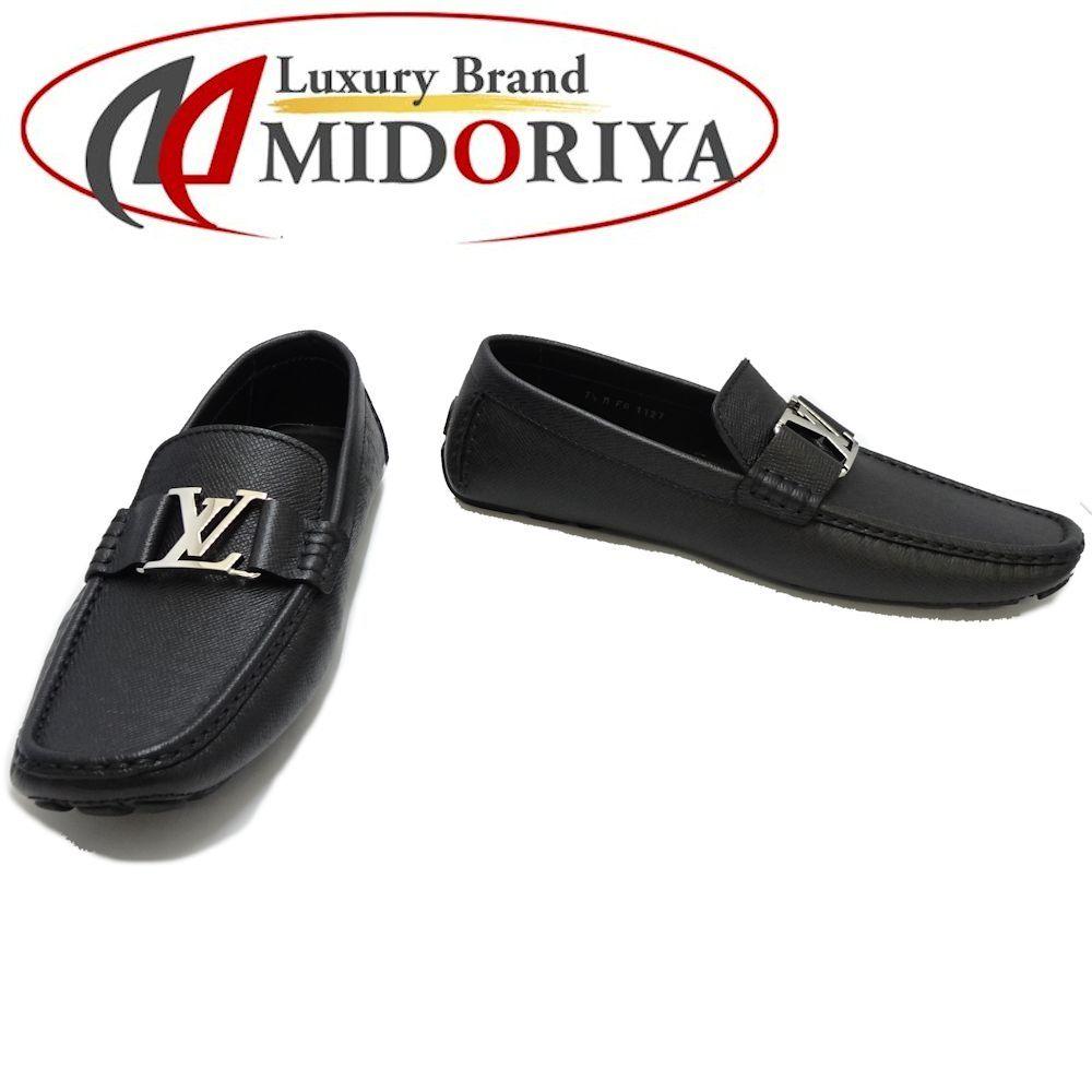 ルイヴィトン LOUIS VUITTON ローファー サイズ7 1/2 モンテカルロ タイガ 黒 ☆未使用 1A3K29 /044540 靴
