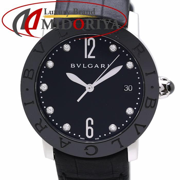 BVLGARI ブルガリ ブルガリブルガリ ダイヤモンド BBL37BSBCLD/9 ブラック レディース /36033 【中古】 腕時計