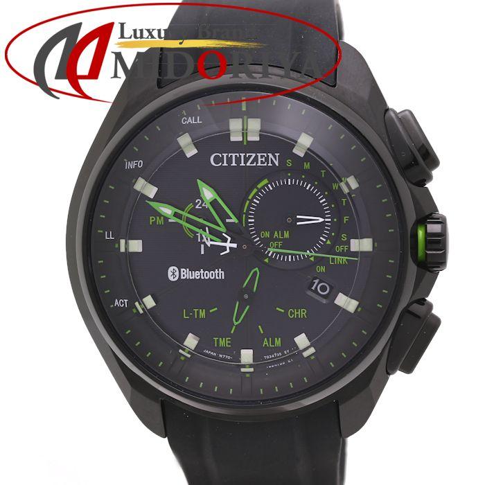 シチズン エコドライブ Bluetooth メンズ BZ1025-02E ソーラークォーツ W770-T022871 スマートウォッチ /36150 【中古】 腕時計