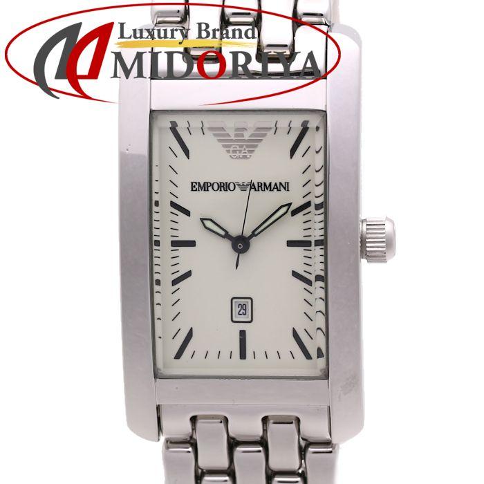 エンポリオ アルマーニ EMPORIO ARMANI AR0100 ステンレススチール メンズ /36152 【中古】 腕時計