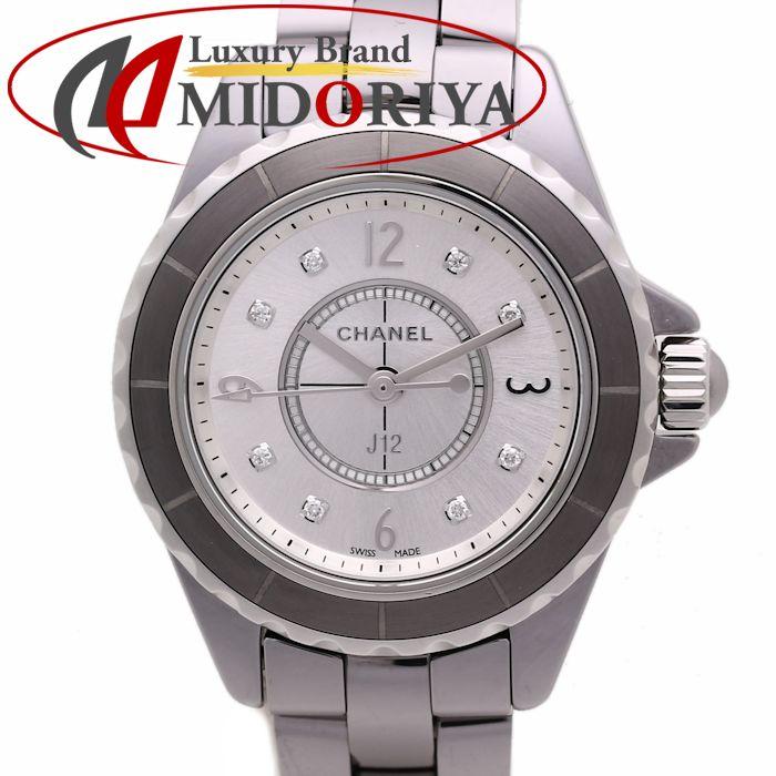 CHANEL シャネル J12 クロマティック 8Pダイヤ 29mm レディース クォーツ セラミック H3401 /36186 【未使用】 腕時計