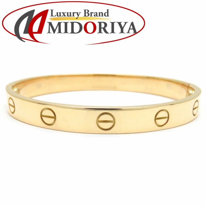 1d9ad34d08b11 MINT! Authentic CARTIER 750 Yellow Gold Love Bracelet #16 Bangle /091079  FREE SHIPPING