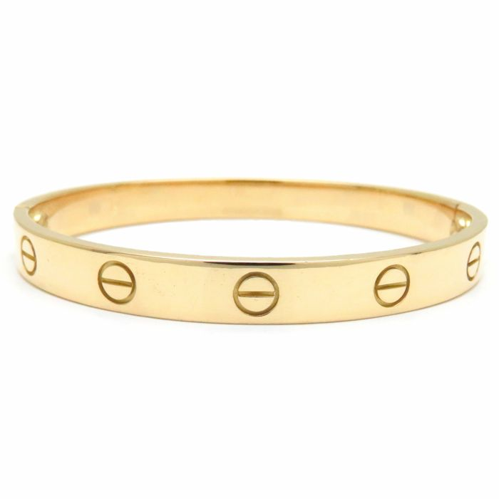 Mint Authentic Cartier 750 Yellow Gold Love Bracelet 16 Bangle 091079 Free Shipping