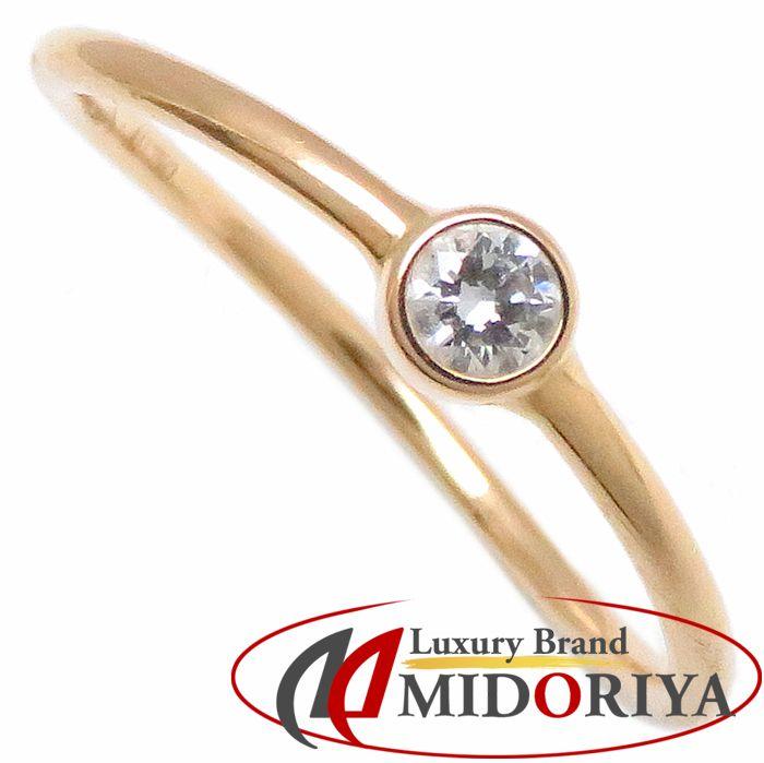 7ac6b5876 Tiffany Tiffany & Co. Wave single low ring diamond 1P 750PG 8.5 pink  gold ...