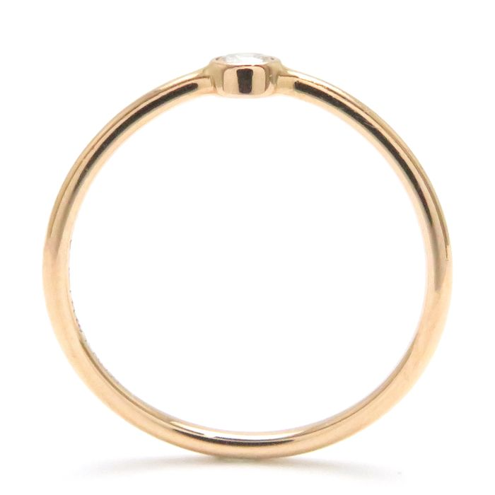 5fbe36391 ... Tiffany Tiffany & Co. Wave single low ring diamond 1P 750PG 8.5  pink gold ...