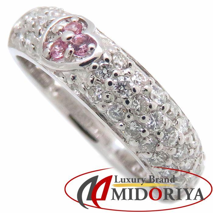 サマンサティアラ Samantha Tiara リング ハート ダイヤモンド0.33ct K18WG 4号 ピンキーリング ホワイトゴールド 指輪/091144【中古】