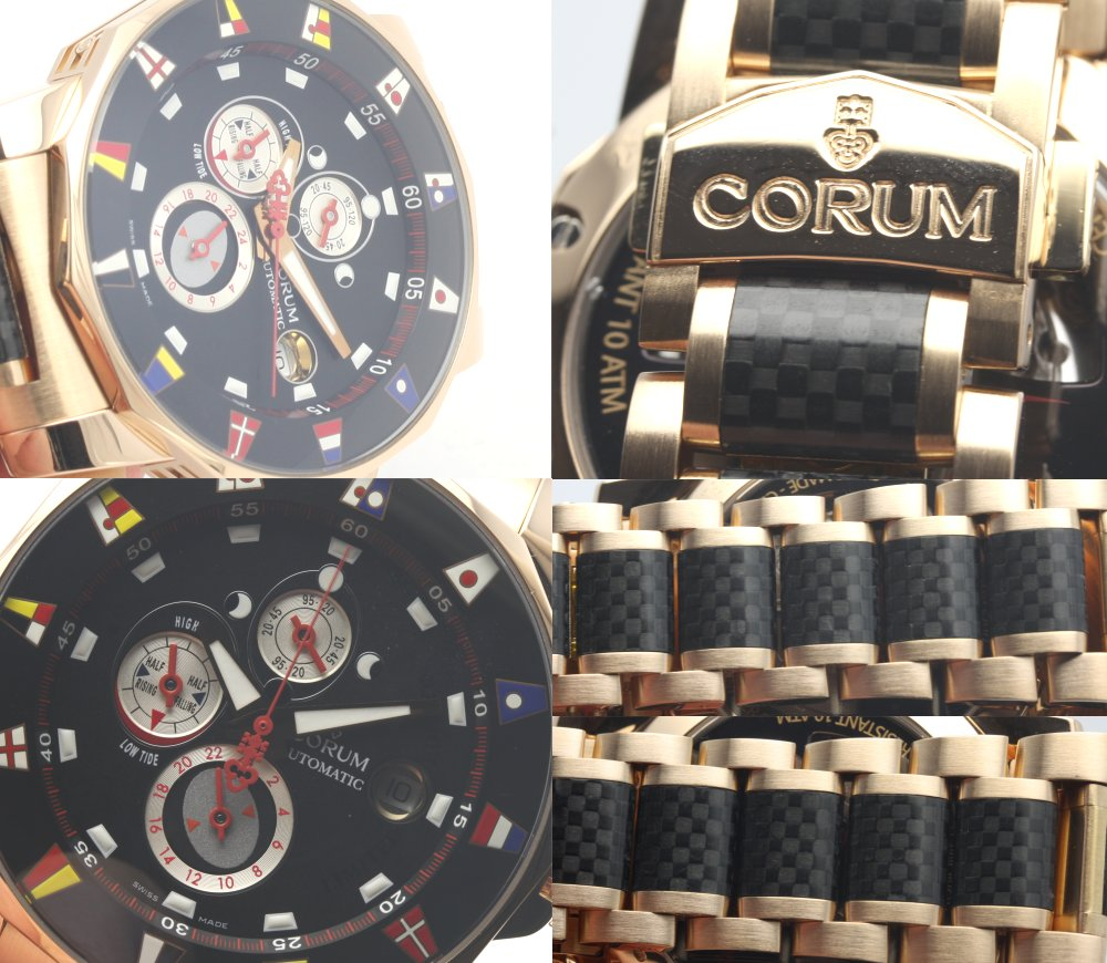 Corum 977.631.55 admirals Marais K18PG solid x rubber ☆ World Cup 500 limited edition model mens automatic winding / 32644 CORUM