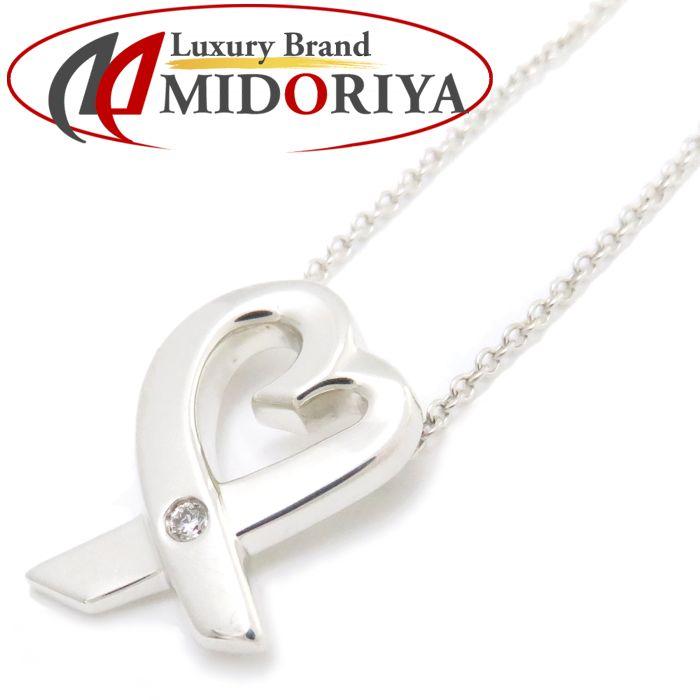ティファニー Tiffany & Co. ラビングハート ネックレス 1Pダイヤモンド SV925 シルバー ペンダント/091609【中古】