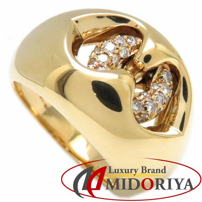 \大幅値下げ/ブルガリ BVLGARI リング アブラッチオ ダイヤモンド K18YG 11.5号 イエローゴールド 指輪/091731【中古】