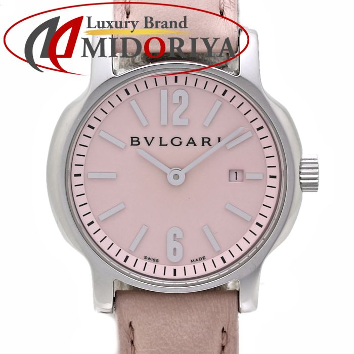 BVLGARI ブルガリ ソロテンポ ST29S ピンク クォーツ レディース /36282 【中古】 腕時計