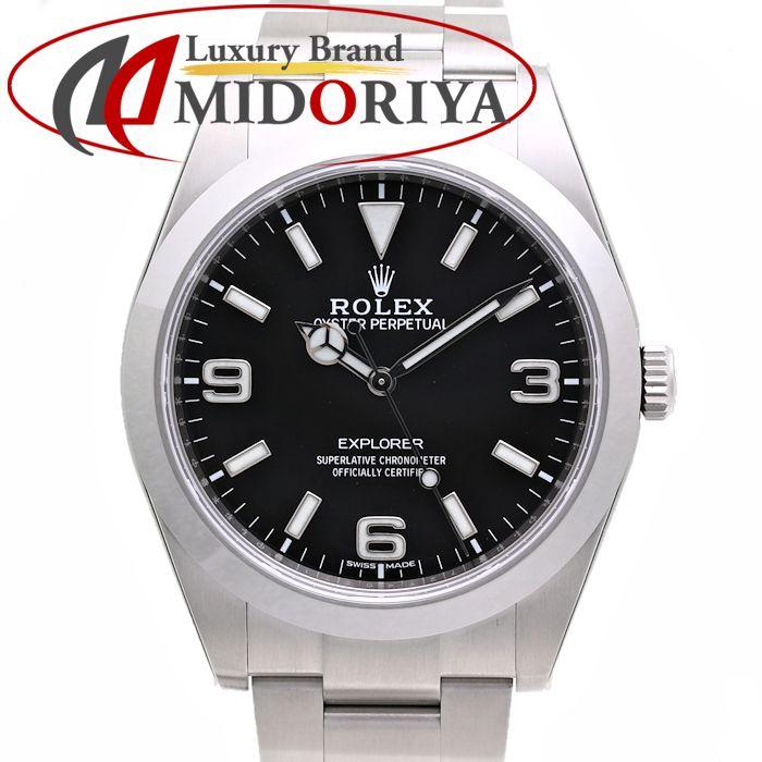 ロレックス ROLEX エクスプローラー1 214270 ブラック 新インデックス ランダム番 /36296 【未使用】 腕時計