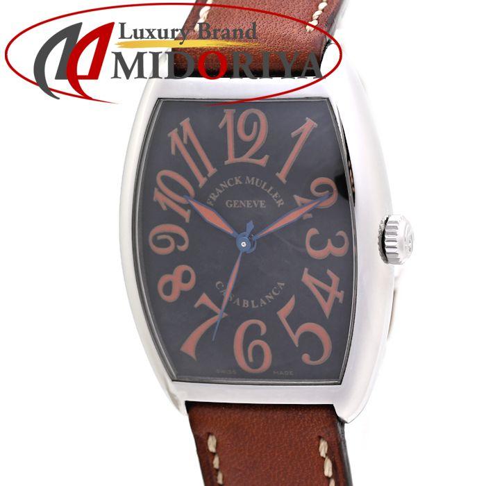 \大幅値下げ/フランクミュラー FRANCK MULLER カサブランカ サハラ 2852CASA SAHARA ブラック文字盤 メンズ /36316 【中古】 腕時計