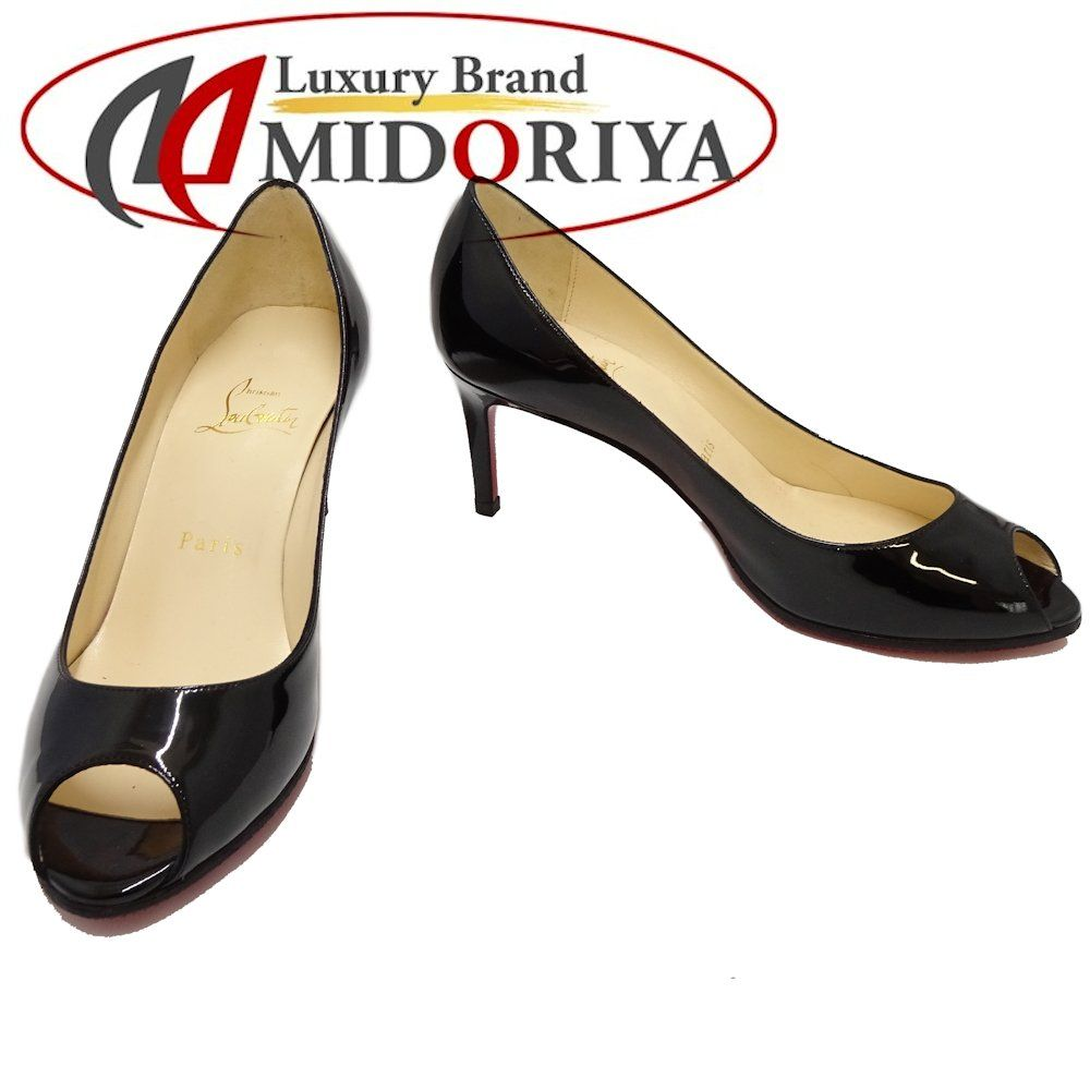 best service 514ea f0400 Authentic CHIRISTIAN LOUBOUTIN NEW VERY PRIVE Open Toe Pumps Size 36 Black  /045851 FREE SHIPPING