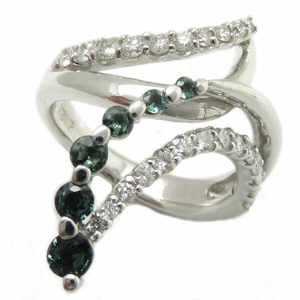 【緊急!大幅値下げ】指輪 アレキサンドライト ダイヤモンド0.62ct リング 10.5号 K18WG/62825【中古】【クリーニング済】