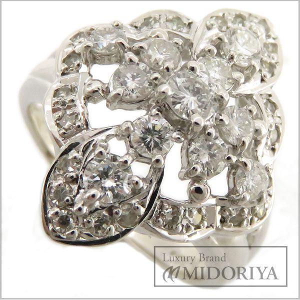 【緊急!大幅値下げ】指輪 ダイヤモンド1.00ct リング 14号 Pt900/62838【中古】【クリーニング済】