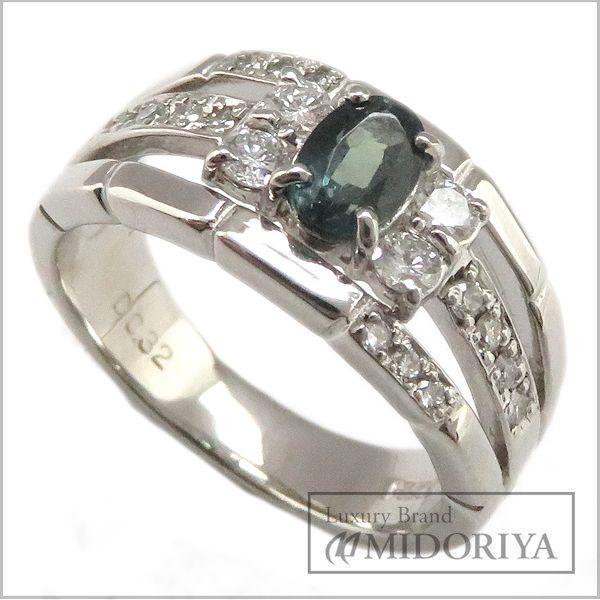 【最大3万円OFF&3倍】指輪 アレキサンドライト0.61ct ダイヤモンド0.32ct リング 11号 Pt900/62885【中古】【クリーニング済】