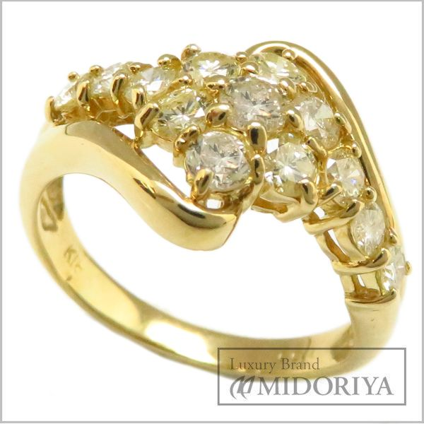 【緊急!大幅値下げ】指輪 ダイヤモンド1.00ct リング 13号 K18YG/63017【中古】【クリーニング済】
