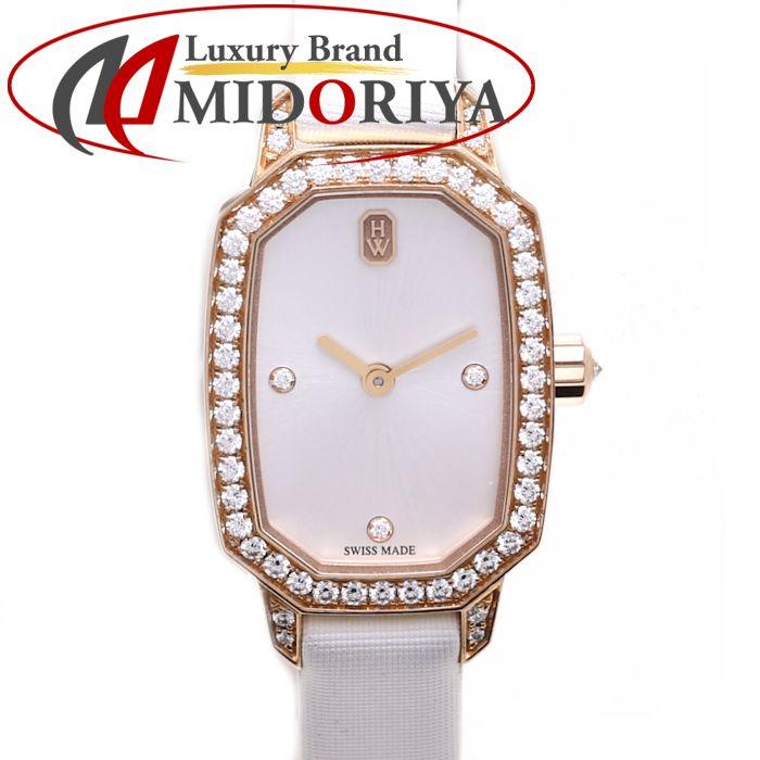 ハリーウィンストン HARRY WINSTON エメラルドコレクション EMEQHM18RR001 ローズゴールド ダイヤモンド ダブルトゥール /36418 【中古】 腕時計