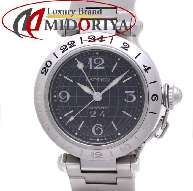 \大幅値下げ/カルティエ Cartier パシャC メリディアン GMT W31049M7 ブラック ボーイズ /36449 【中古】 腕時計