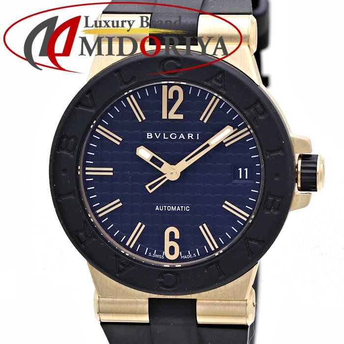 ブルガリ ディアゴノ ラバー YG金無垢 ユニセックス BVLGARI DG35BGVD /36485 【中古】 腕時計