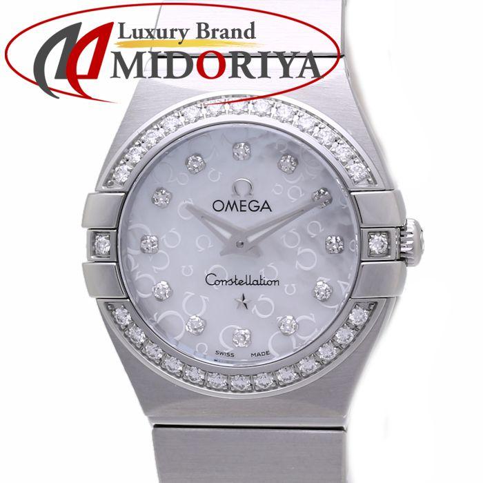\大幅値下げ/オメガ OMEGA コンステレーション ブラッシュ ベゼルダイヤモンド シェル 123.15.24.60.55.005 レディース /36531 【中古】 腕時計