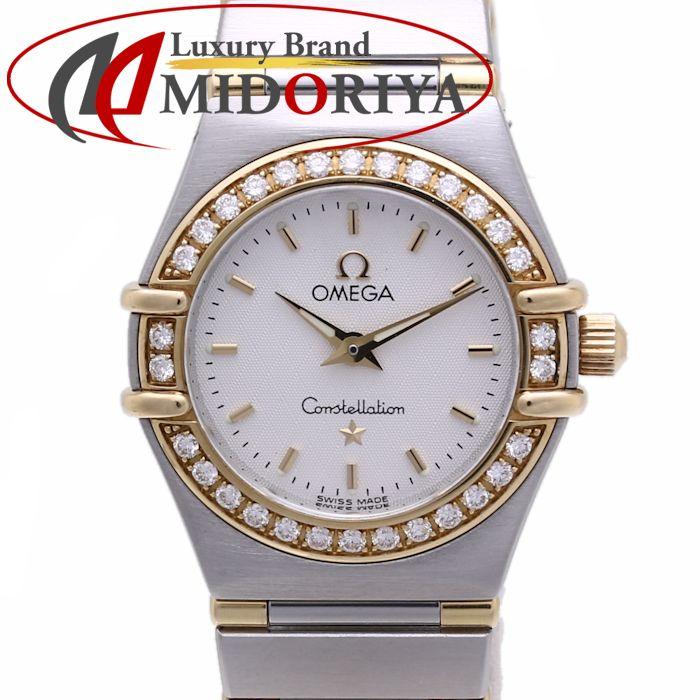 \大幅値下げ/オメガ コンステレーション 1367.30 SS/K18YG ベゼルダイヤモンド OMEGA レディース /36538 【中古】 腕時計