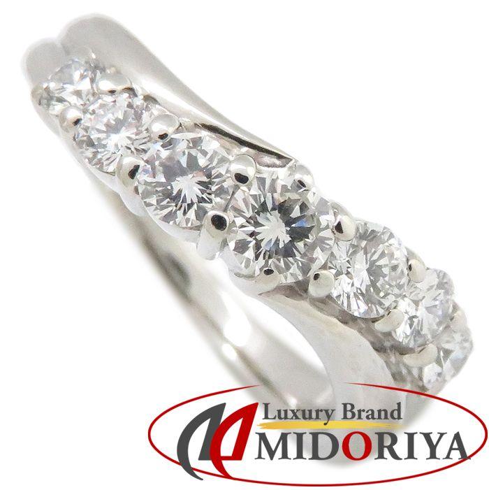 ダイヤモンドリング Pt900 ダイヤモンド0.652ct 11号 プラチナ 指輪 レディース ジュエリー /63643 【中古】P_10