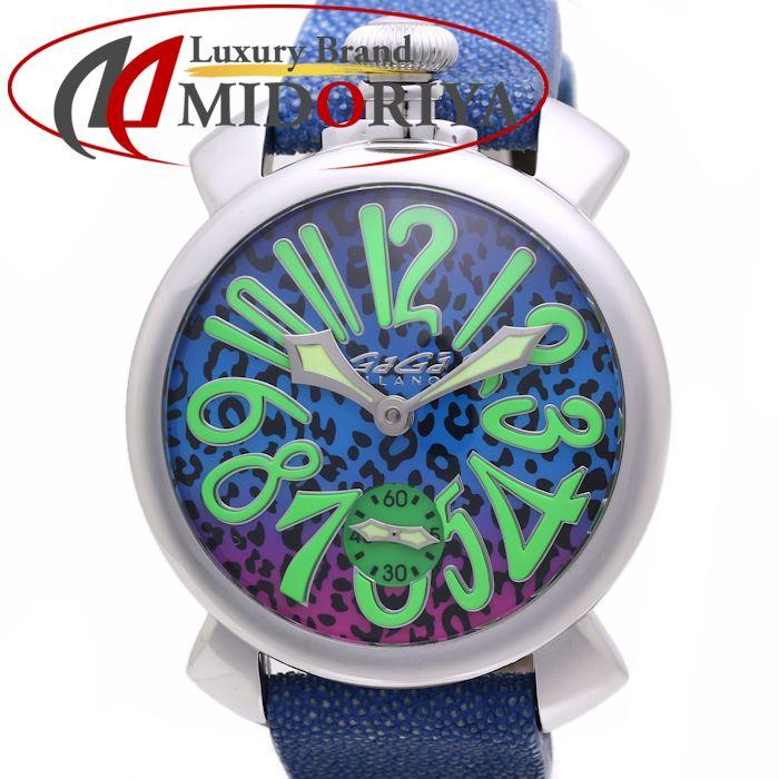 ガガミラノ GaGa MILANO マニュアーレ 48mm アート 5010.ART.03S 世界限定300本 メンズ /36577 【中古】 腕時計