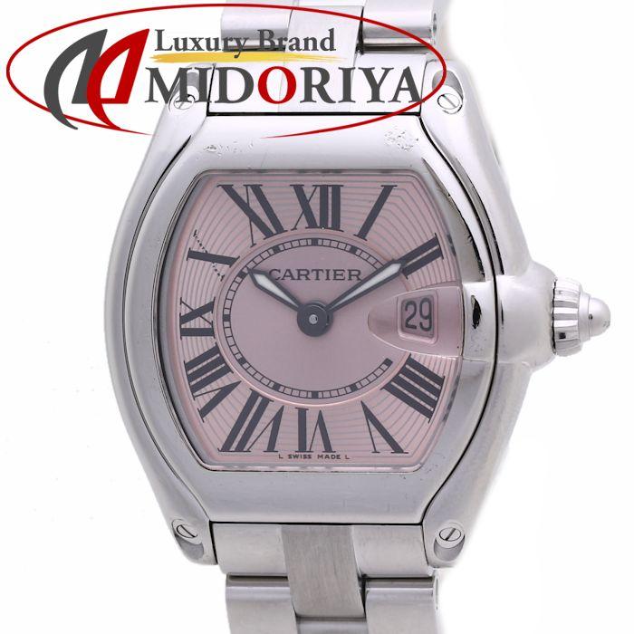 カルティエ CARTIER ロードスター SM W62017V3 レディース ピンク /36591 【中古】 腕時計
