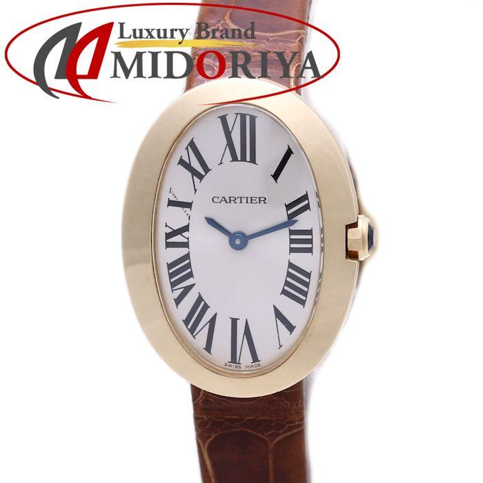 カルティエ CARTIER ベニュワール SM レディース レザー クォーツ 18K YG 金無垢 W8000009 /36640 【中古】 腕時計