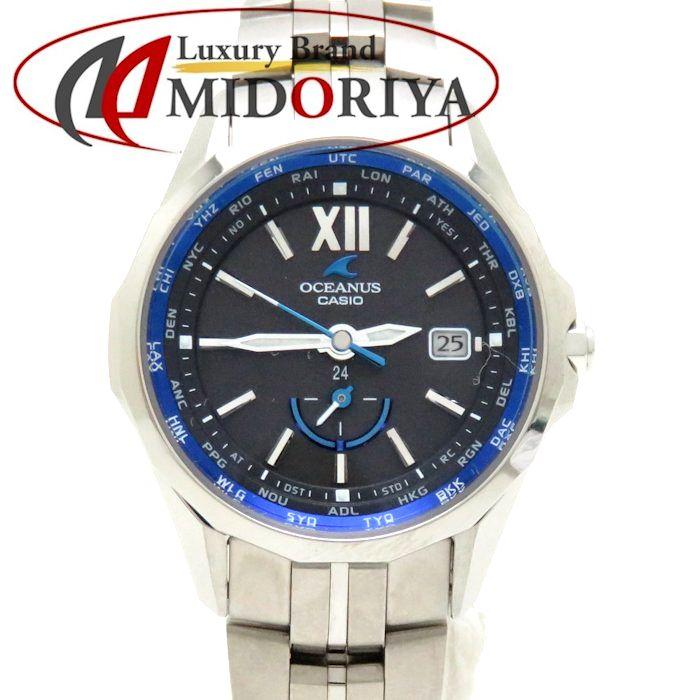 カシオ CASIO オシアナス OCEANUS マンタ OCW-S340-1AJF レディース ソーラー /36652 【中古】 腕時計