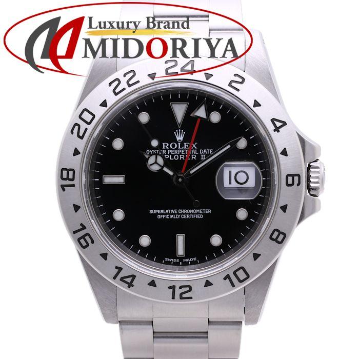 \大幅値下げ/\大幅値下げ/ロレックス ROLEX エクスプローラー2 16570 A番 メンズ ブラック オートマ 自動巻き /36709 【中古】 腕時計