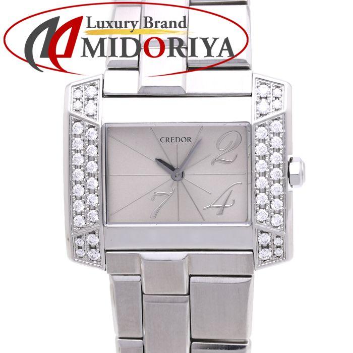 セイコー クレドール ノードJ ダイヤベゼル GSTE921 レディース SEIKO /36735 【中古】 腕時計