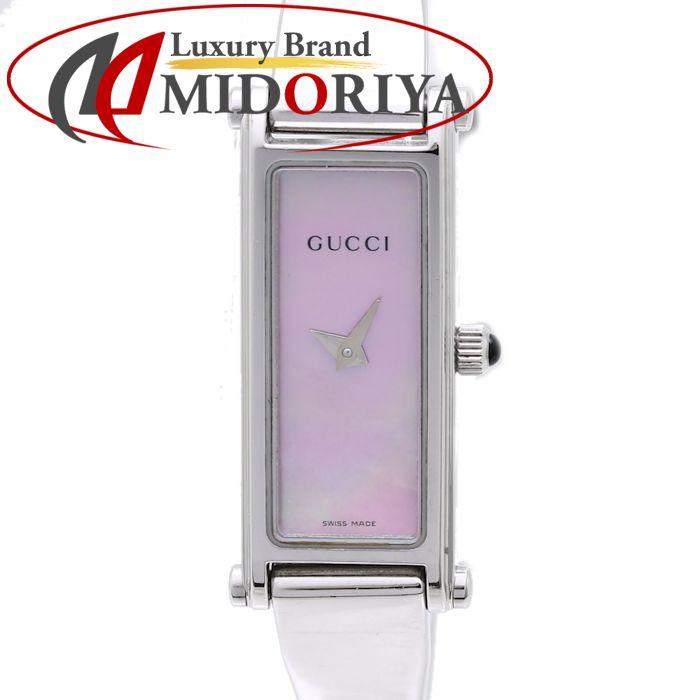 GUCCI グッチ 1500L ピンクシェル バングル クォーツ レディース /36745 【中古】 腕時計